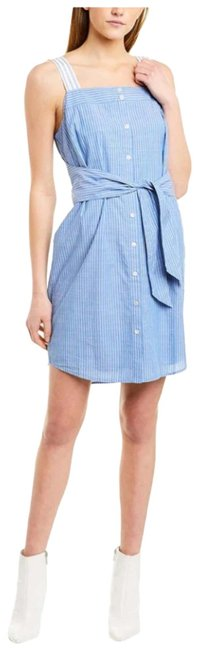 Item - Blue and White Galilee Short Casual Dress Size 12 (L)