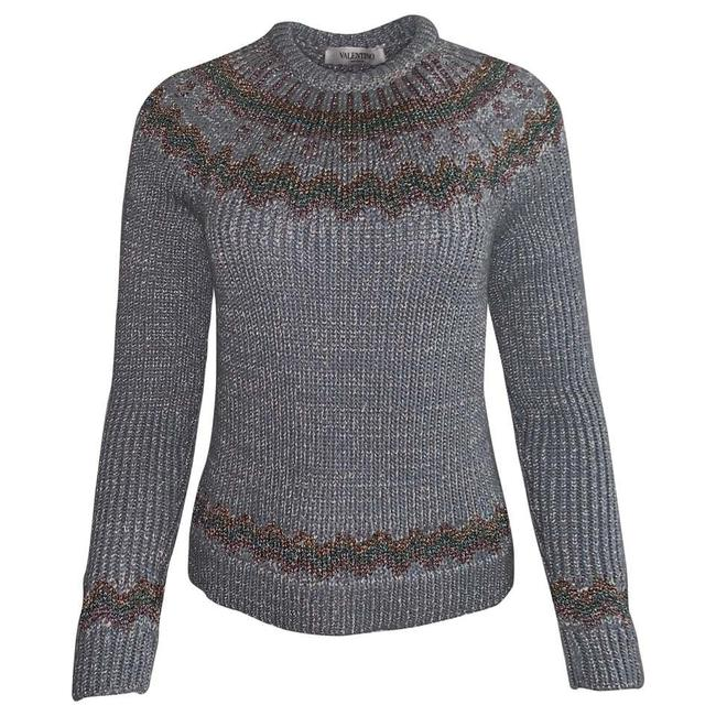 Item - Metallic Fair Isle Silver Sweater