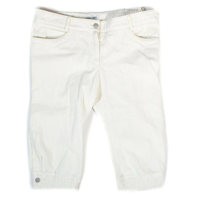 Item - White Coated Pants Cc Low Rise Us 12 - 44 Capri/Cropped Jeans Size 34 (12, L)