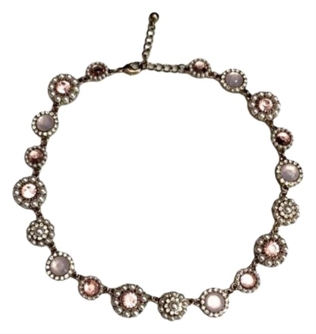 Item - Gold Pink And Floral Statement Necklace