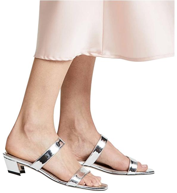 Item - Silver New Ava City Low-heel Slide Sa Sandals Size US 8.5 Regular (M, B)