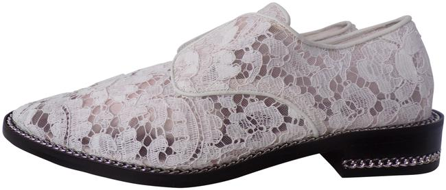 Item - White New Derby Double Chain Blanc Lace Women's Flats Size EU 37.5 (Approx. US 7.5) Regular (M, B)