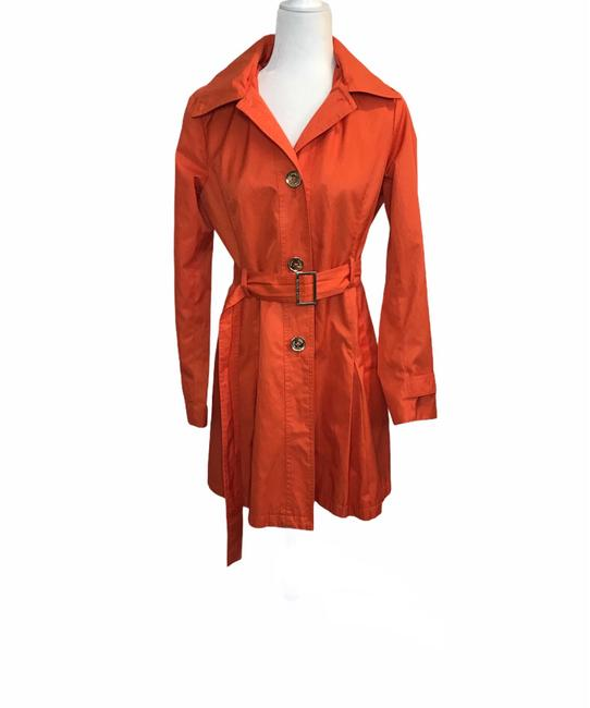 Item - Orange Belted Coat Size 4 (S)
