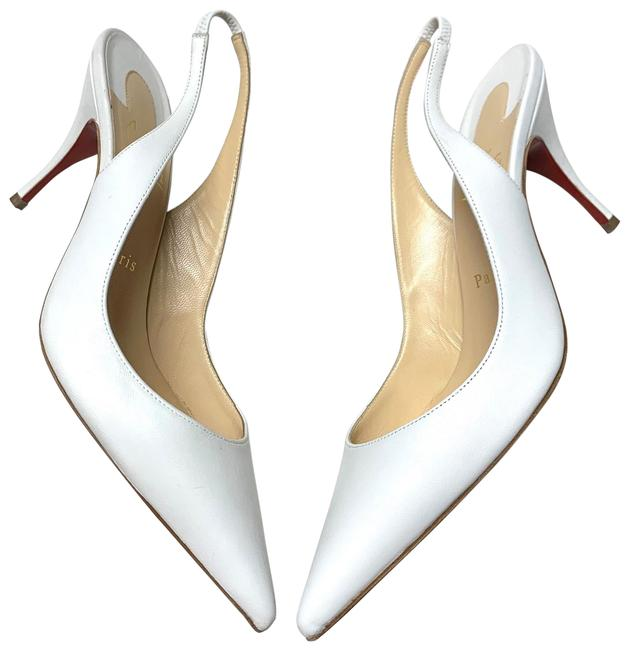 Item - White New Clare Sling 80 Napa Pumps Size EU 38.5 (Approx. US 8.5) Regular (M, B)
