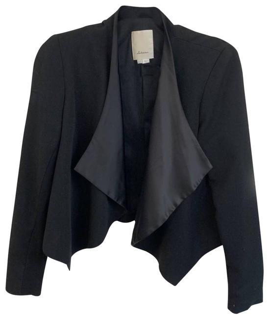 Item - Black Elevenses Talvi Silk Lapel Blazer Activewear Outerwear Size 6 (S)