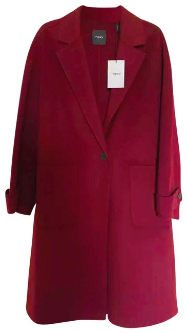 Item - Red Easy One Button Cashmere Coat Size 8 (M)