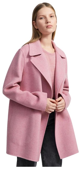 Item - Pink Wool and Cashmere Coat Size 12 (L)