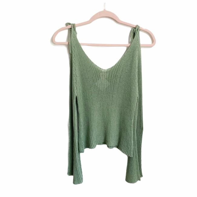 Item - Green Sunrise Brand Cold Shoulder Waffle Knit Sweater Womens Poncho/Cape Size 4 (S)