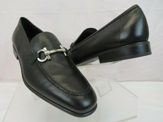 Item - Black Flori 2 Pebbled Leather Gancini Bit Classic Loafers 10 Ee Shoes