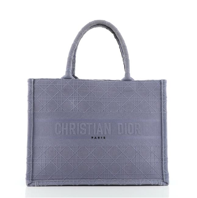 Item - Book Cannage Embroidered Small Purple Canvas Plain Tote