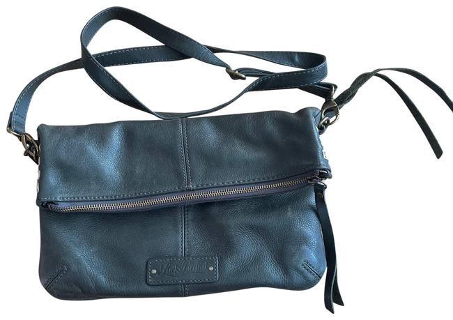 Item - Fold Over Purse Green Leather Cross Body Bag