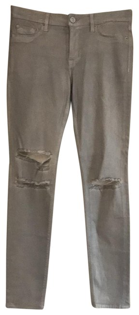 Item - Silver Coated Skinny Jeans Size 8 (M, 29, 30)