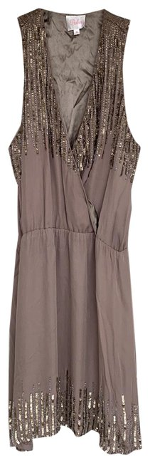 Item - Brown/Silver Na Short Night Out Dress Size 8 (M)