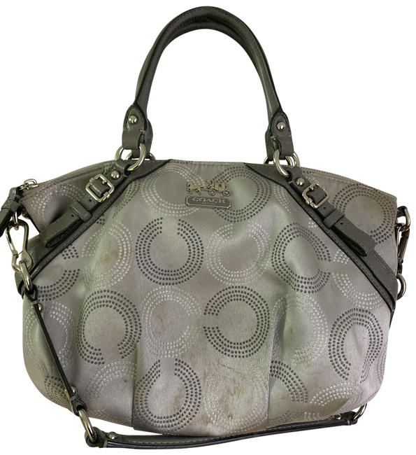Item - Bag Large Silver Gray Fabric Tote