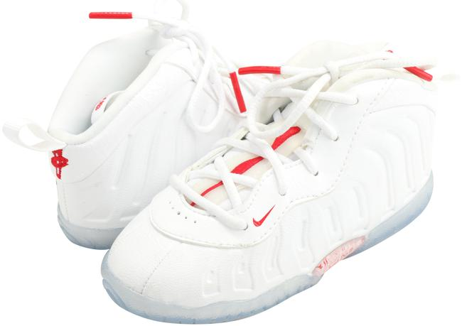 Item - White/Red Little Posite One Sneakers Size US 8 Regular (M, B)