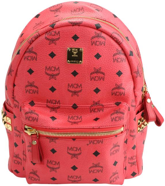 Item - Stark Side Stud Small Pink Leather Backpack