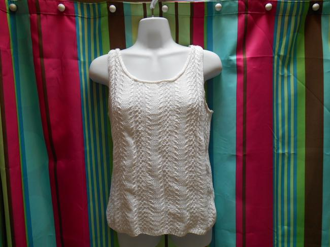 Ralph Lauren Exclusive Hand Knit Cotton Cotton Knit Knits Sleeveless Shirt Summer Spring Small 4 6 Petite Classic Traditional Sweater
