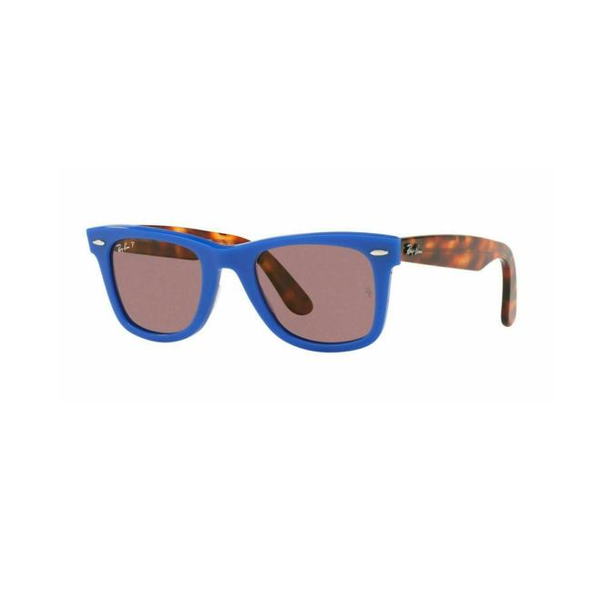 Item - Blue /Red Havana Frame & Violet Polarized Lens Rb2140 1241w0 50 Wayfarer Unisex Sunglasses