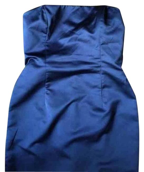 Item - Blue Strapless Prom Gown Homecoming Long Formal Dress Size 12 (L)