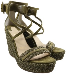 Christian Louboutin Bodrum 110mm green Wedges
