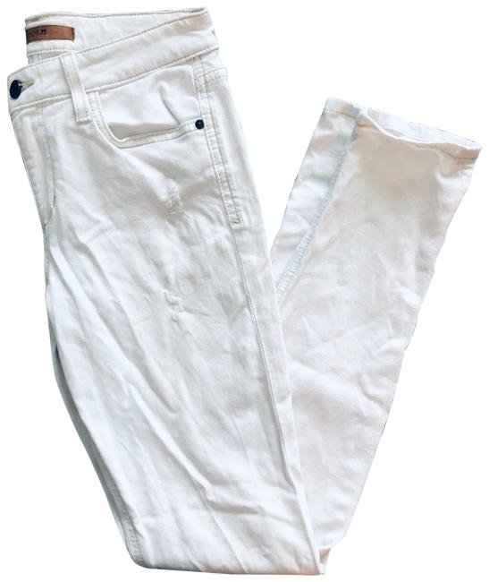 Item - White Distressed Fit: Ankle Skinny Jeans Size 4 (S, 27)