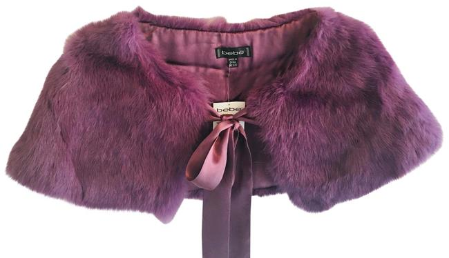 bebe Purple 40% Off Real Fur Cropped Nwt. Poncho/Cape Size OS (one size) bebe Purple 40% Off Real Fur Cropped Nwt. Poncho/Cape Size OS (one size) Image 1