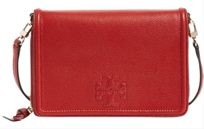 Item - Thea Flat Wallet Red Leather Cross Body Bag