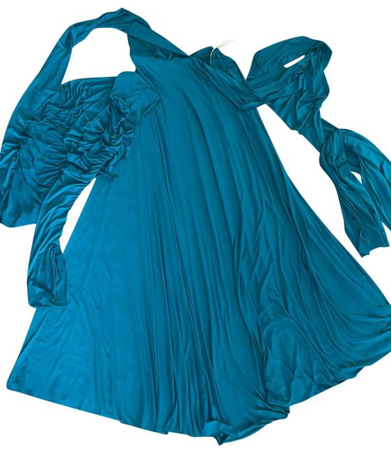 Item - Teal Multi Wrap Convertible Long Casual Maxi Dress Size OS (one size)