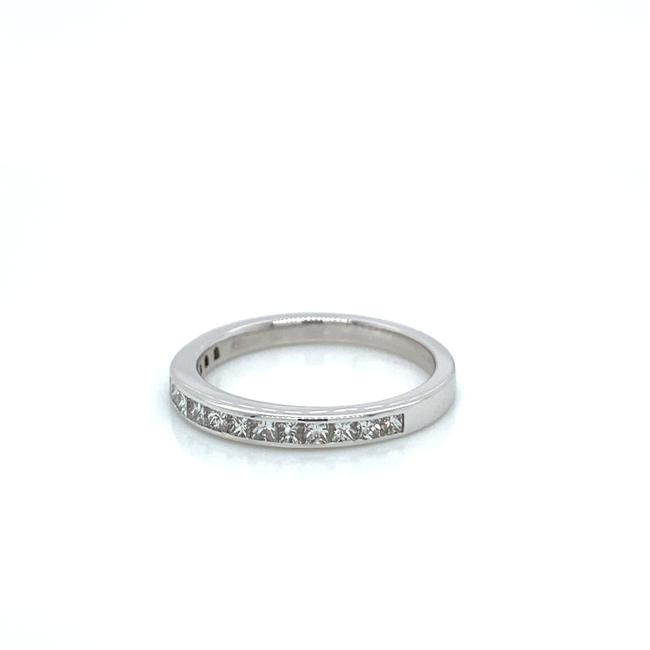 Item - Colorless 0.50 Carat Square Shaped Band In 14k White Gold Ring