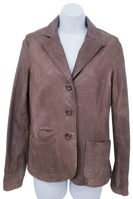 Item - Brown Genuine Buttery Soft Jacket Size 8 (M)