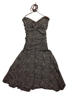 Betsey Johnson short dress black and white Polka Dot Convertible on Tradesy