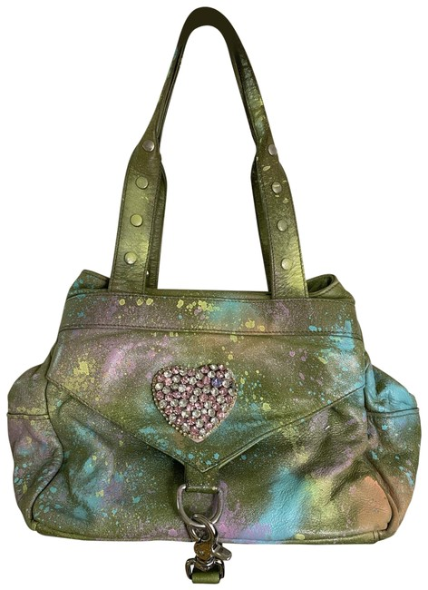 Item - Graffiti Customized with and Applique Multicolor Shoulder Bag