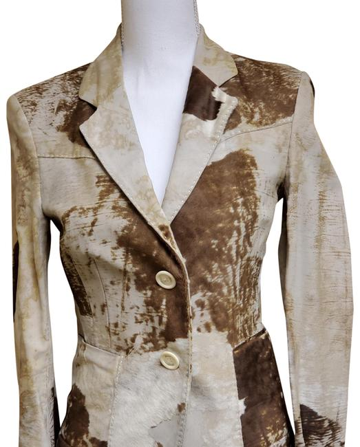 Item - Beige and Brown 9j933082 Jacket Size 6 (S)