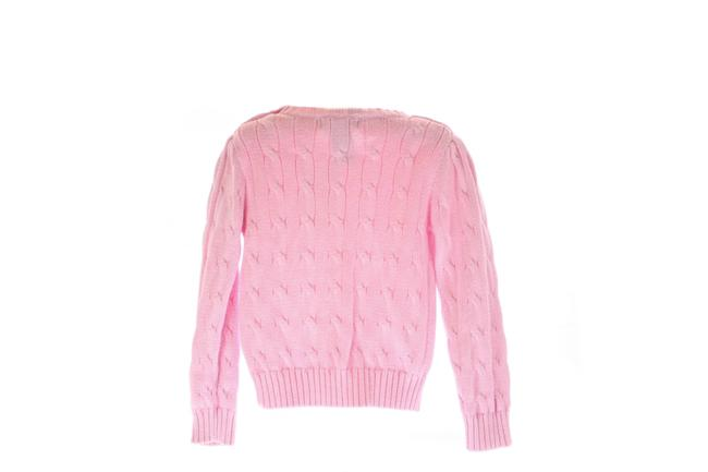 Item - Cable Knit Cotton Kids Size 3t Pink Sweater