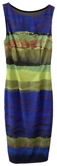 Item - Purple/Multi Mid-length Night Out Dress Size 4 (S)