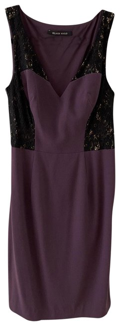 Item - Purple/Black Mid-length Night Out Dress Size 0 (XS)