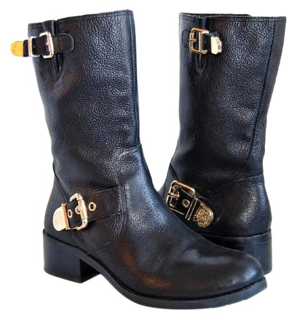Item - Black and Gold Wexle Leather Boots/Booties Size US 6.5 Regular (M, B)