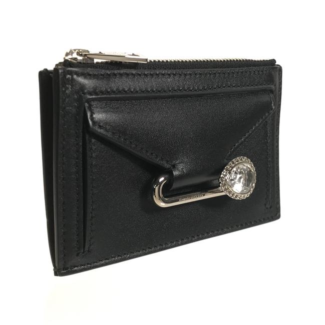 Item - Black New Mcqueen Leather Pin Mini Pouch Wallet