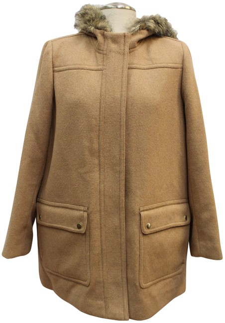 Item - Camel Mercantile Faux Fur Hooded Jacket Coat Size 16 (XL, Plus 0x)