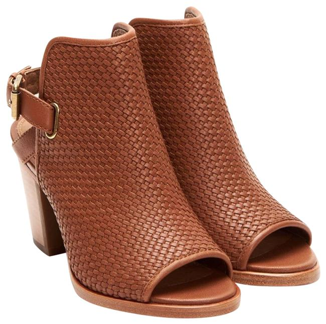 Item - Tan ✨new✨ Leather Woven Shield Ankle Bootie Sandals Size US 8.5 Regular (M, B)