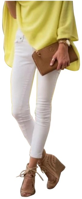 Item - White Light Wash Kylie Crop with Roll-up In Optic Capri/Cropped Jeans Size 28 (4, S)