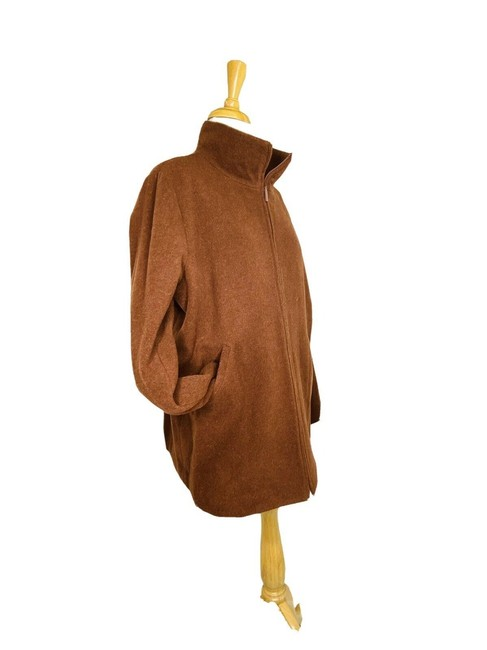 Item - Brown Wool Lined In Cupro Rayon Coat Size 12 (L)
