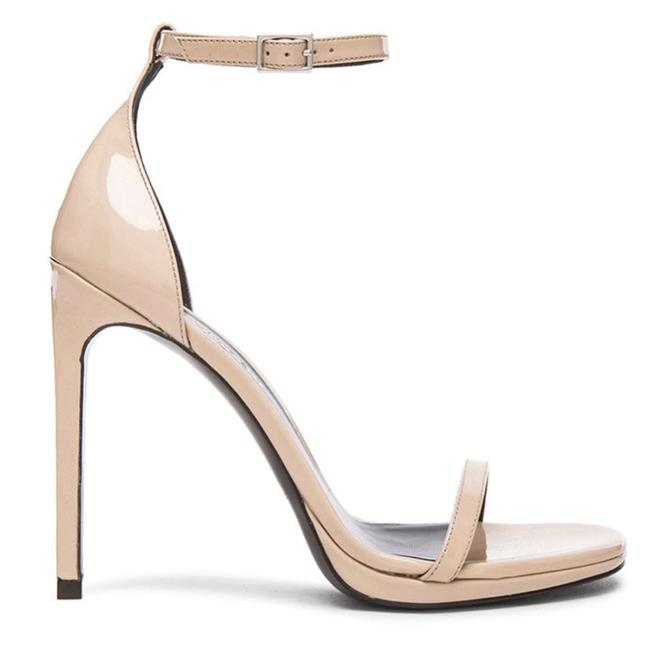 Item - Nude Jane Patent Leather Sandals Tan Beige Ysl Formal Shoes Size EU 37.5 (Approx. US 7.5) Regular (M, B)