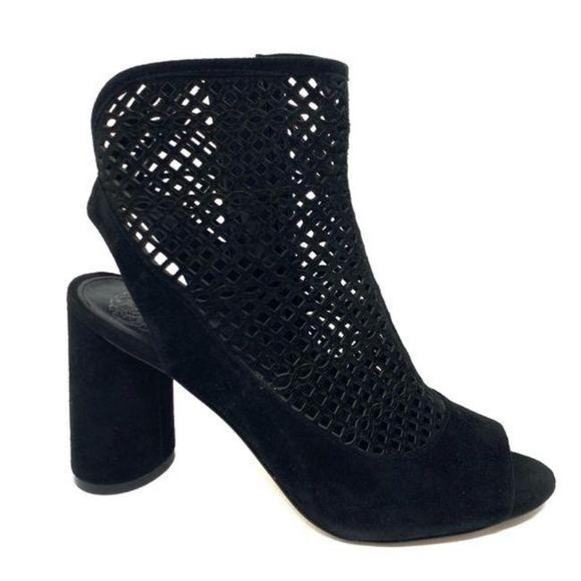 Item - Black Gerby Ankle Perforated Chunky Heel Zip Boots/Booties Size US 8 Regular (M, B)