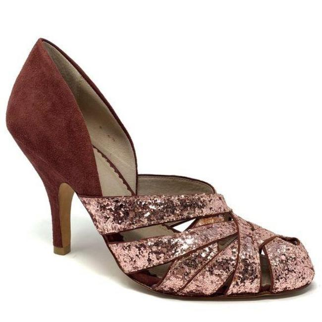 Item - Pink Purple Miss Albright Dominique Glitter Suede Heels Pumps Size US 7.5 Regular (M, B)