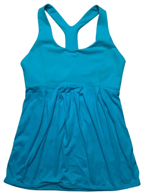 Item - Blue Tank Activewear Top Size 6 (S)