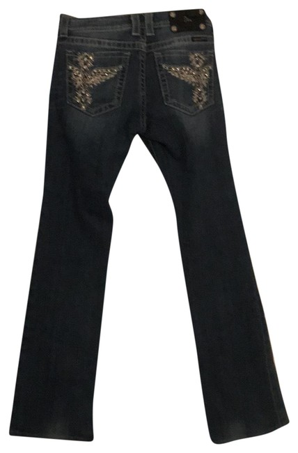 Item - Distressed Boot Cut Jeans Size 6 (S, 28)