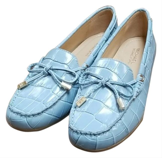 Item - Blue Sutton Moc-toe Flats Pumps Size US 5.5 Regular (M, B)