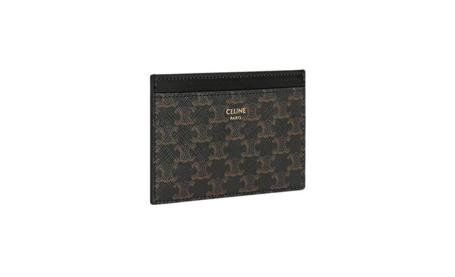 Item - Multi Color Card Holder In Triomphe Canvas and Calfskin Wallet