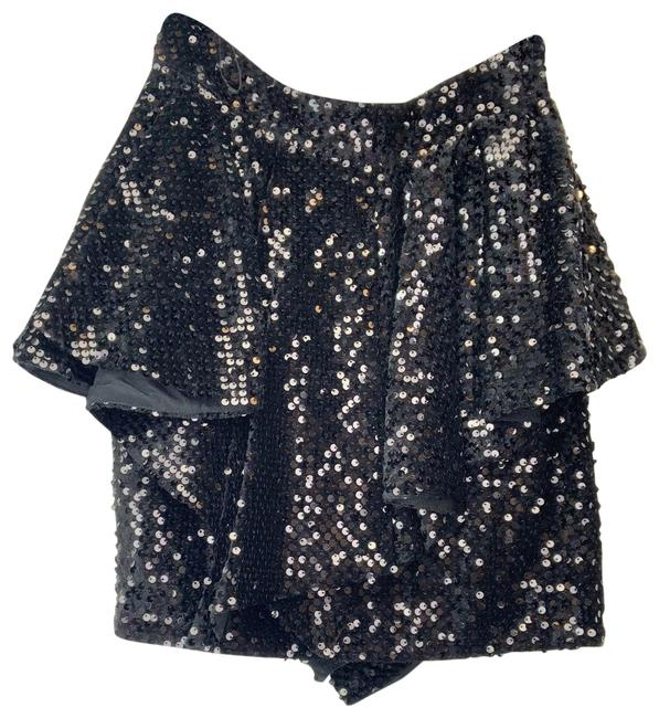 Item - Black 36(4) Assymetric Sequin Skirt Size 4 (S, 27)